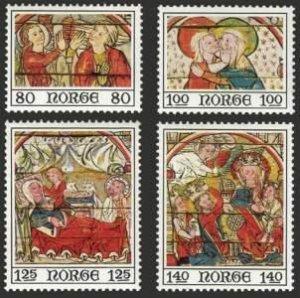 Norway MNH 665-8 Fresco Religion 1975