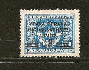 Yugoslavia 45 Zone B Mint Hinged