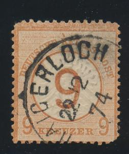 Germany Stamp Scott #28, Used, 1874 Town Cancel - Free U.S. Shipping, Free Wo...