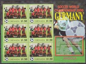 2006 Grenada 5720KL 2006 FIFA World Cup Germany( Angola ) 9,00 €