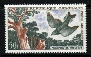 GABON 1961 50 Francs Lyre-Tailed Honeyguide Air Mail SG 170 MNH