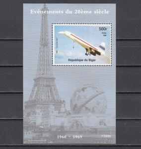 Niger, 1998 issue. Concorde value as a s/sheet. *