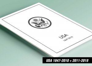 PRINTED UNITED STATES AMERICA 1847-2010 + 2011-2018 STAMP ALBUM PAGES (644 pgs)