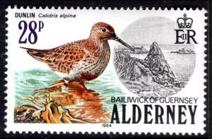 Alderney 16 Bird MNH VF