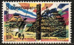 MEXICO 1008, TOURISM PROMOTION, TAJIN PYRAMID. MINT NH