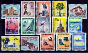 South West Africa SWA 1961-63 -  Various Scenes MLH set # 266-280