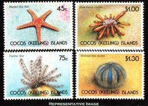 Cocos Islands Scott 237-240 Mint never hinged.