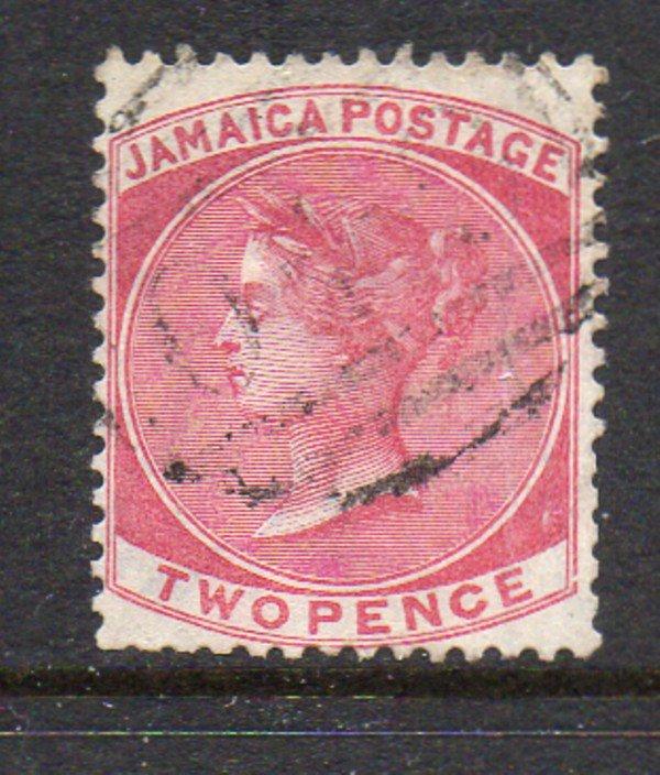 Jamaica Sc 19 1884 2d rose Victoria stamp used