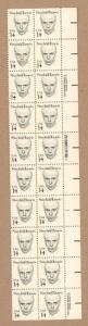 1856  Sinclair Lewis Plate Block with Small Block Tagging Block of 20 h