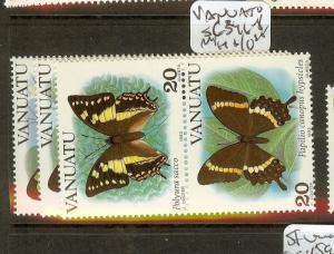 VANUATU (B1801) BUTTERFLY  SC346-8   MNH