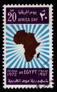 Egypt Scott 918 Used Map stamp