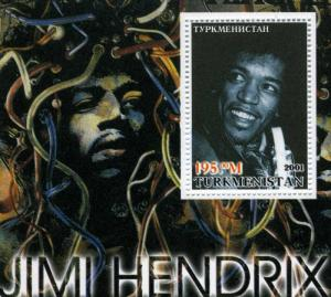Turkmenistan 2001 JIMI HENDRIX  s/s Perforated Mint (NH)