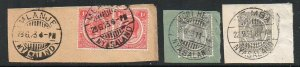 Nyasaland: 1920s postmark group (4 stamps)