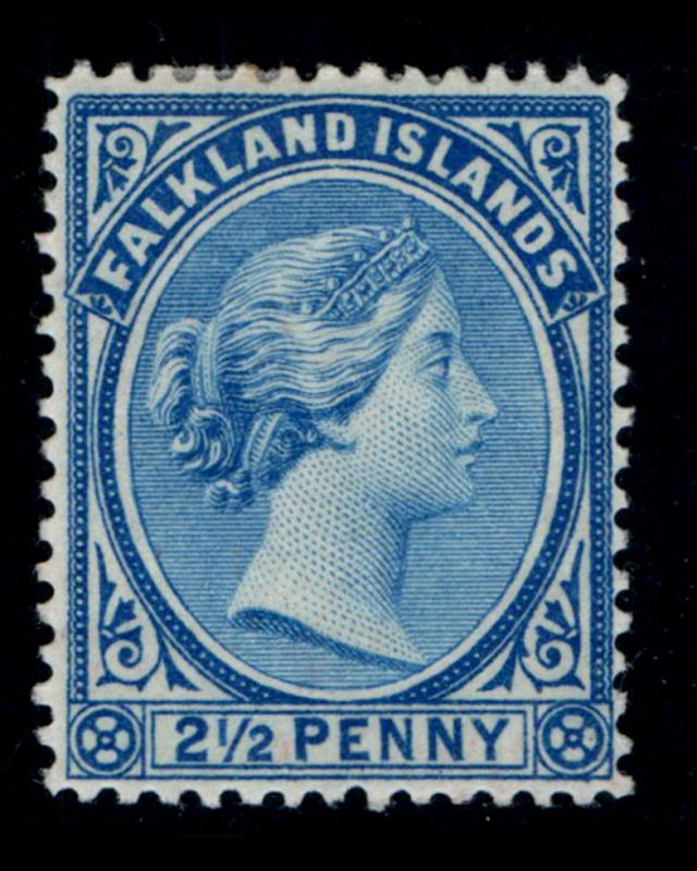 VINTAGE: FALKLAND ISLANDS 1894 OGMHR SCOTT # 15 $ 45 LOT # VSASFLK1894UF