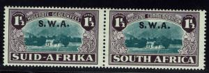 South West Africa SG# 113, Pair, Mint Hinged  -  Lot 010216