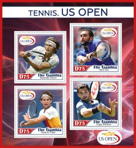 Stamps. Sports Tennis Set 2 sheet perforated