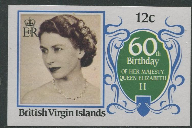 Virgin Is.- Scott 532 - QEII 60th Birthday -1986 - MVLH - Single 12c Stamp