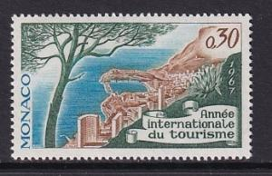 Monaco  #663   MNH  1967  international tourist year   Monte Carlo