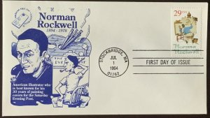 AFDCS LRC 2839 Norman Rockwell Saturday Evening Post Cover Artist