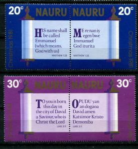 Nauru MNH 236-9 Christmas 1981
