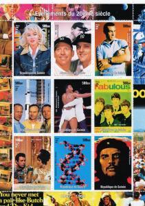 Guinea 1998 BASEBALL  / James Bond/SPACE Evenements Shlt(9)MNH
