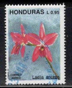 Honduras  Scott C822 used 1991 Flower stamp