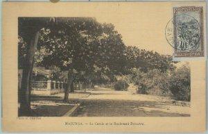 81174 - MADAGASCAR - POSTAL HISTORY - single stamp on POSTCARD from MAJUNGA