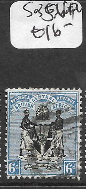 BRITISH CENTRAL AFRICA  (P1209B) ARMS 6D  SG 35  VFU