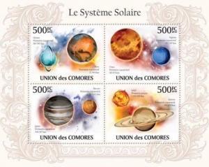 Comoros - Solar System - 4 Stamp  Sheet  3E-210