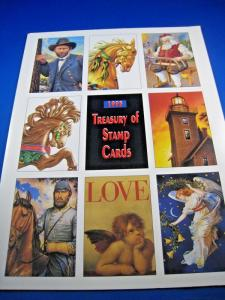 USPS 1995 TREASURY OF STAMP CARDS - 2 FOLDERS