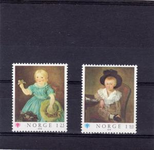 Norway 1979 Sc#744/745 Paintings/ICY '79 Set (2) MNH VF