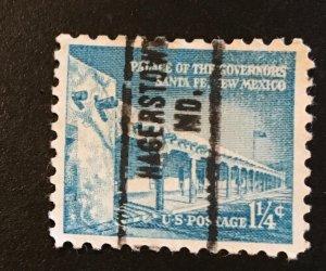 1031A, Palace of Governors, circulated single, Vic's Stamp Stash