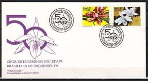 Brazil, Scott cat. 2121-2122. Orchids issue on a First day cover.