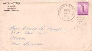 United States U.S. R.P.O.'s Vance & Bos. S.D. 1942 4-AP-1  Corner card Day's ...