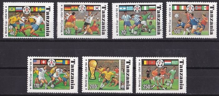 Tanzania 1994 World Cup Soccer Championship Set MNH**