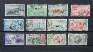 Barbados 1950 set complete to $2.40 SG271 - SG282 Fine Used