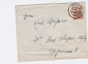 Germany Soviet Zone 1948 Leipzig to Bad Sachsa stamps cover  R20742