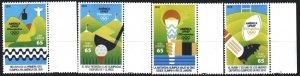 Cuba. 2016. 6145-48. Rio de Geneiro Summer Olympics. MNH.