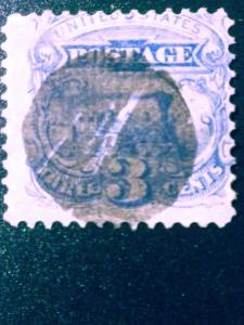 US #114 used.