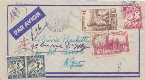 Ivory Coast 50c Mosque at Bobo-Dioulasso and 5F Rapids on Comoe River 1948 Ab...