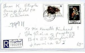 Jamaica *LINSTEAD* Registered $12.50 Rate Cover {samwells-covers}1997 CS21