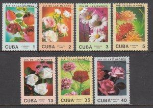 Cuba, Sc 3010-3016, CTO-LH, 1988, Mothers Day