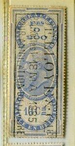 BELGIUM; Early 1880s Leopold used classic Revenue issue used value, 10c