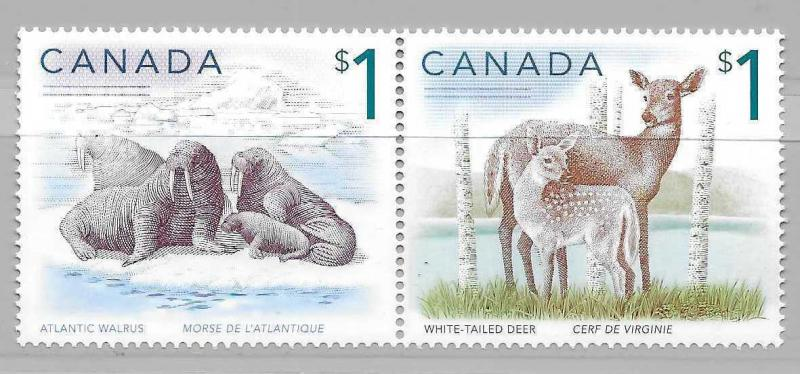 Canada 1689a 1997-2005 $1 Animals pair MNH