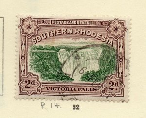 Southern Rhodesia 1930s Early Issue Fine Used 2d. NW-170468