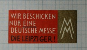 The Leipzig Germany Fair Exposition Poster Stamp Ads