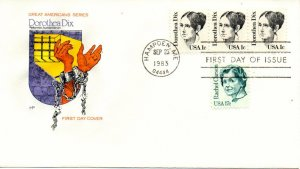 US FDC #1844 Dix, House Of Farnam (5412)