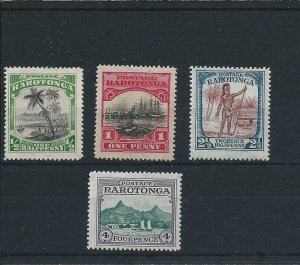 COOK IS 1924-27 SET OF FOUR MM SG 81/84 CAT £40