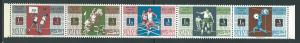 Qatar 90a 86-90 1966 Sports strip FOLDED MNH