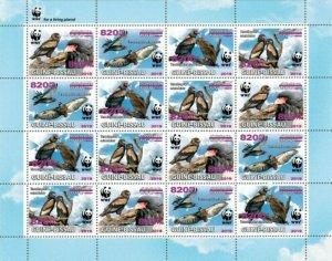 Guinea-Bissau - 2019 Bateleur WWF Overprint - 16 Stamp Sheet - GB190810e1